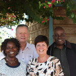 Coordinator Japheth Mitugo and the dutch chairman Martin Bouwmeester with their spouses