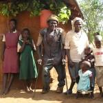 Thuis bij sponsor gezin
